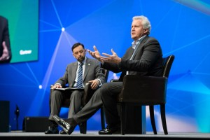 "Jeff Immelt, Chairman and CEO of GE, explains how ""healthy paranoia"" drives growth during his keynote interview with Gartner's Mark Raskino at Gartner Symposium/ITxpo."