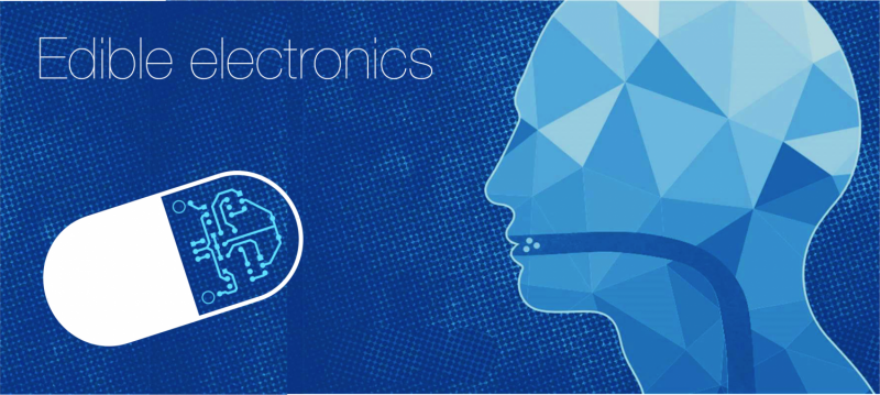 Artistic representation of edible electronics. Credit: Christopher J. Bettinger